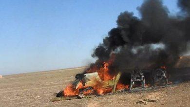 صورة عبوة ناسفة تخلف قتلى وجرحى من عناصر الميلشيات في بادية الرقة