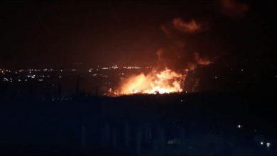 صورة غارات إسرائيلية استهدفت مواقع في اللاذقية وحماة