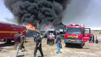 صورة إيران.. انفجارات وحريق واسع بمصنع كيمياويات من جديد