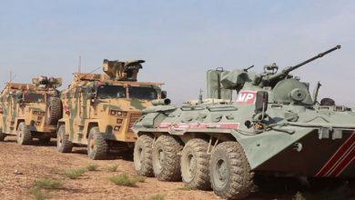 صورة دورية روسية – تركية عسكرية في شمال الحسكة