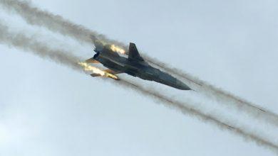 صورة غارات جوية روسية تستهدف البادية السورية