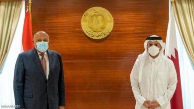 صورة أول زيارة لوزير خارجية مصري إلى الدوحة بعد سقوط مرسي