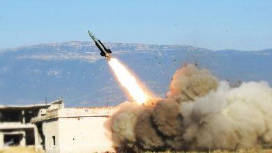 صورة قصف صاروخي على بلدة القرداحة بريف اللاذقية