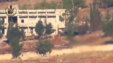 صورة معسكراً للجيش السوري تحت نيران المدفعية التركية