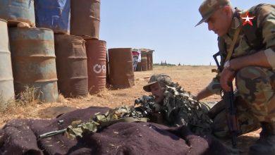 صورة فيديو | تدريبات للجيش السوري على القنص والتخفي على يد نظيره الروسي