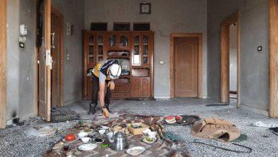صورة إصابة 3 أشخاص بقصف مدفعي على منطقة الأتارب