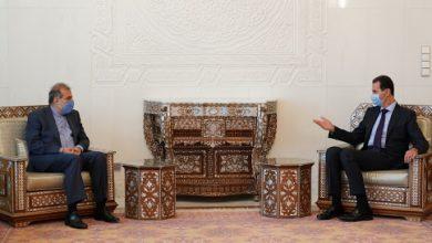 """صورة معاون وزير خارجية إيران في دمشق للقاء """"الأسد"""""""