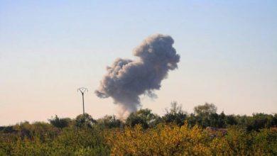 صورة قصف على إدلب