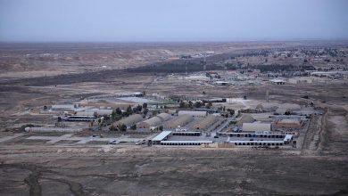صورة قصف صاروخي على أكبر قاعدة أمريكية بالعراق