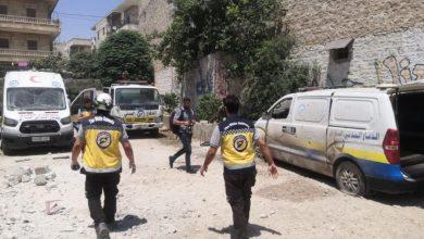 صورة جرحى بقصف يستهدف مدينة عفرين