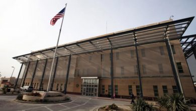 صورة انفجار يستهدف السفارة الأمريكية بغداد