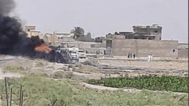 صورة التحالف الدولي يقصف أهداف إيرانية في البوكمال
