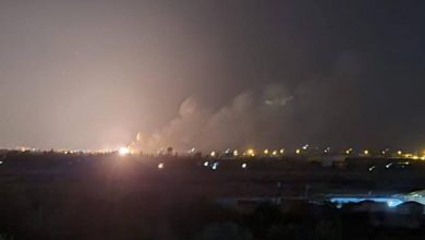 صورة في ليلة العيد.. قصف إسرائيلي على حلب