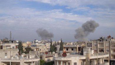 صورة تجدد الغارات الروسية على إدلب