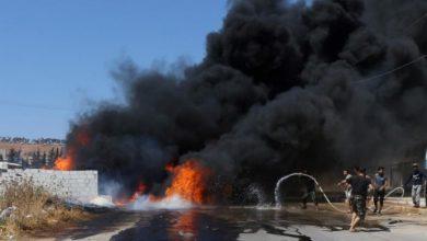 صورة ضحايا بقصف صاروخي لقسد على عفرين