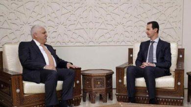 صورة رئيس الحشد الشعبي يدعو بشار الاسد لحضور قمة بغداد