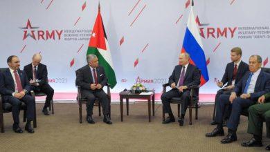 صورة العاهل الأردني يغازل روسيا من موسكو