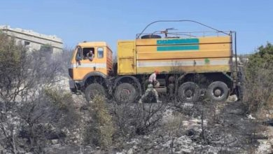 صورة حريق كبير بمحافظة اللاذقية