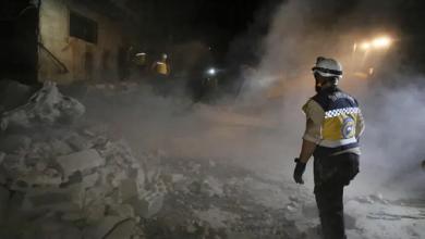صورة استهداف مدينة الباب بقصف صاروخي