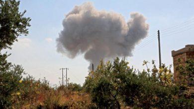 صورة ضحايا بقصف جوي على إدلب