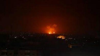 صورة قصف إسرائيلي يستهدف مواقع عسكرية قرب دمشق