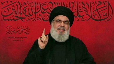 """صورة حزب الله يقدم للبنانيين """"جرعة نفط إيراني"""""""