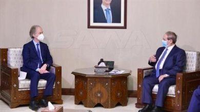 صورة بيدرسون يزور دمشق لبحث الجولة السادسة من اللجنة الدستورية