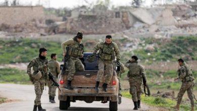 صورة قتلى من الجيش الوطني في اشتباكات مع قسد بعفرين