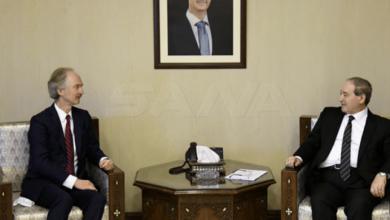 صورة بيدرسون يبحث تطورات اللجنة الدستورية في دمشق