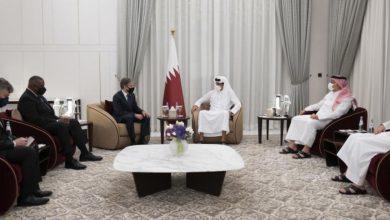 صورة أمير قطر يبحث مع وزيري الدفاع والخارجية الأمريكيين تطورات أفغانستان