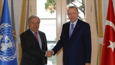 صورة أردوغان وغوتيرش يبحثان الملف السوري في نيويورك