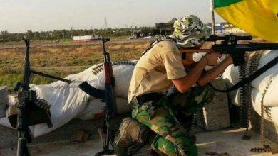صورة قتلى وجرحى في صفوف حزب الله العراقي بالبادية السورية