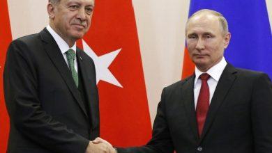 صورة أردوغان وبوتين يتفقان الى ضرورة التعاون في كافة القضايا