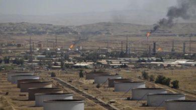 صورة قصف يستهدف مقر للتحالف الدولي في دير الزور