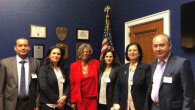 صورة وفد الإدارة الذاتية يجتمع بأعضاء من مجلس الشيوخ الأمريكي