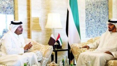 صورة للمرة الأولى منذ ست سنوات.. وزير خارجية قطر يزور الإمارات
