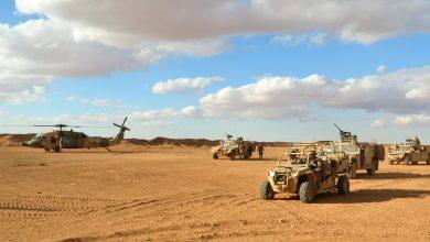 صورة مسيّرات تستهدف قاعدة التنف الأمريكية جنوب شرقي سوريا